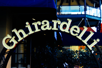 Image of Ghirardelli Chocolate sign