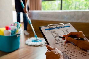 use a cleaning checklist to prevent the spread of viruses